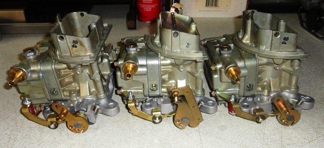 New Holley Tri-power Carbs